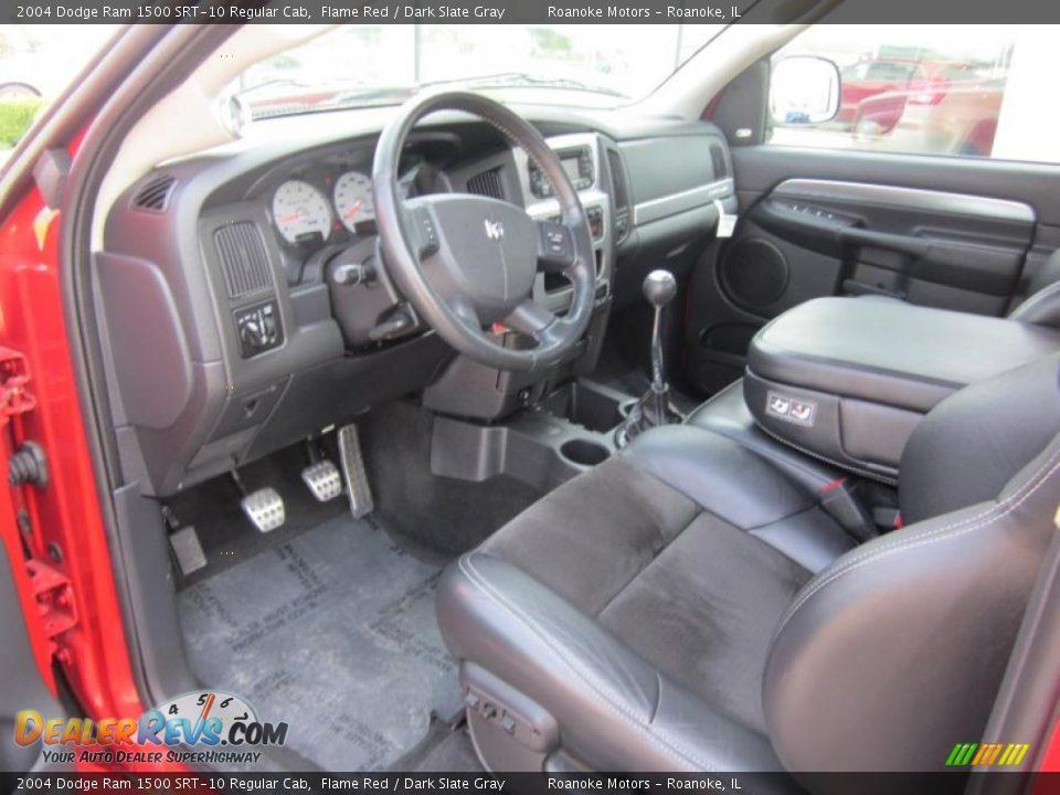 dark slate gray interior 2004 dodge ram 1500 srt 10 regular cab photo 11. Black Bedroom Furniture Sets. Home Design Ideas