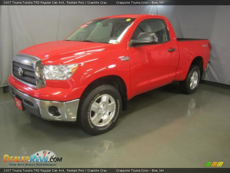 2007 toyota tundra trd regular cab 4x4 radiant red graphite gray photo 1. Black Bedroom Furniture Sets. Home Design Ideas