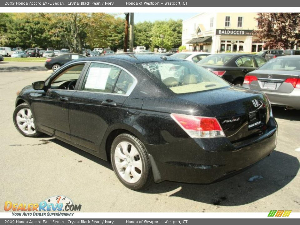 2009 honda accord ex l sedan crystal black pearl ivory. Black Bedroom Furniture Sets. Home Design Ideas