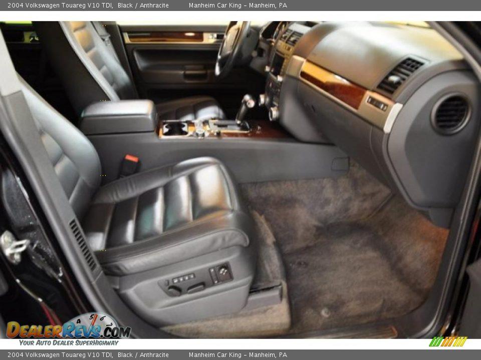 Anthracite Interior 2004 Volkswagen Touareg V10 Tdi Photo 18