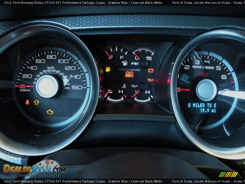 2012 Ford Mustang Shelby GT500 SVT Performance Package Coupe Gauges