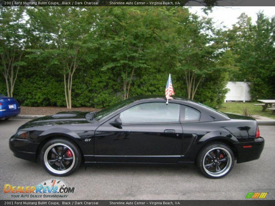 Black 2001 Ford Mustang Bullitt Coupe Photo 2