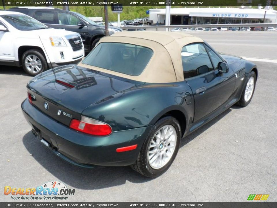 Oxford Green Metallic 2002 Bmw Z3 2 5i Roadster Photo 7