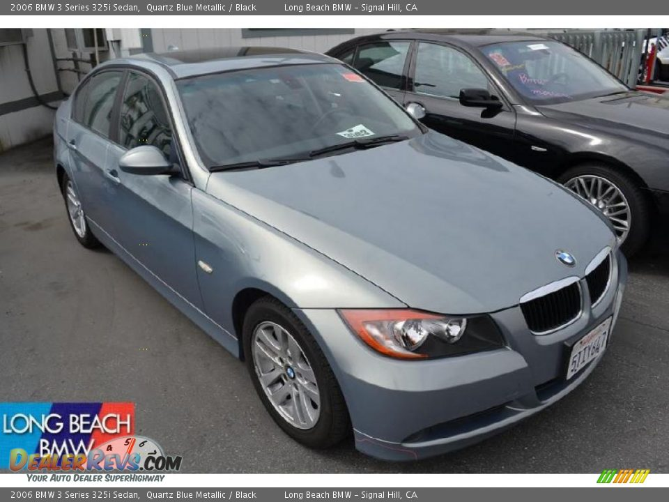 2006 bmw 3 series 325i sedan quartz blue metallic black. Black Bedroom Furniture Sets. Home Design Ideas