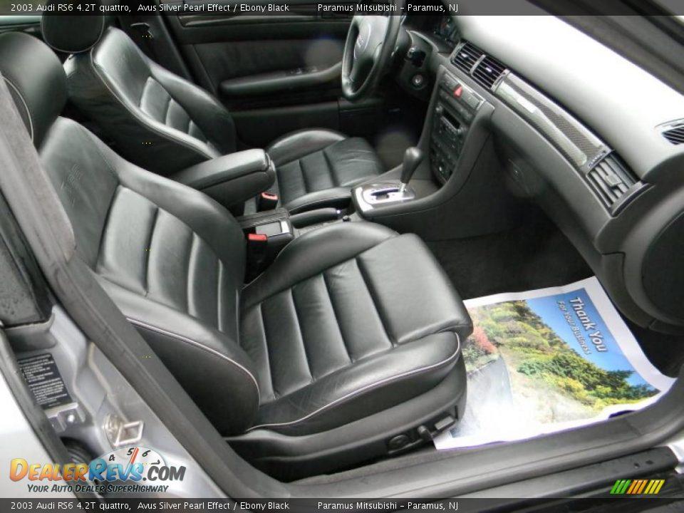 Ebony Black Interior - 2003 Audi RS6 4.2T quattro Photo #15 ...
