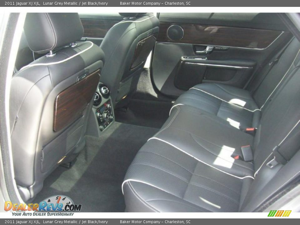 Jet Black Ivory Interior 2011 Jaguar Xj Xjl Photo 8