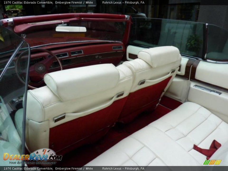 White Interior 1976 Cadillac Eldorado Convertible Photo 12