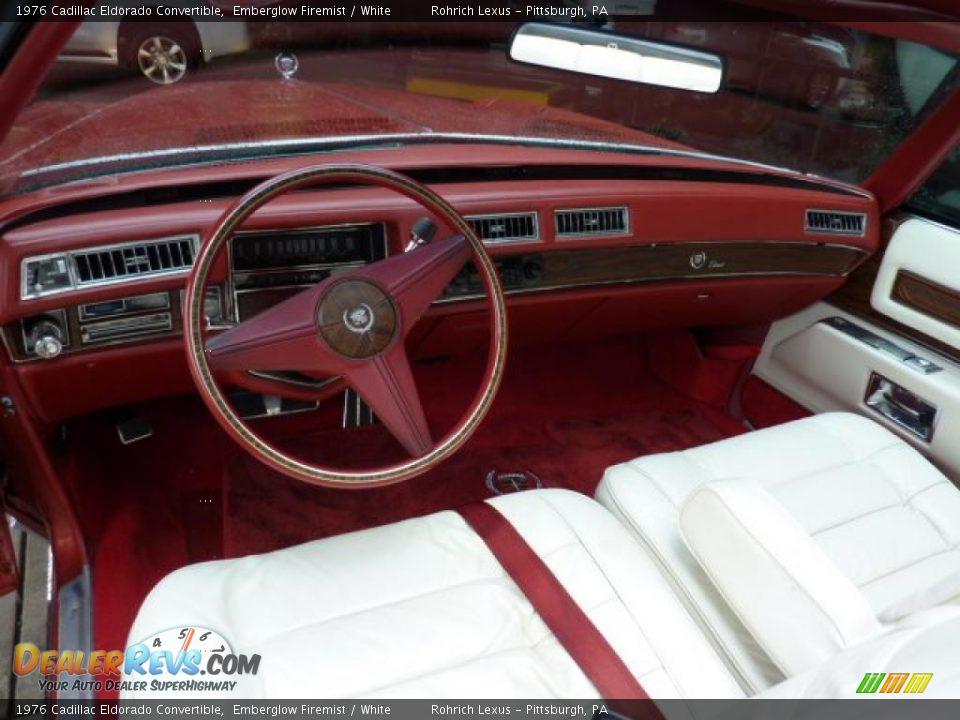 White Interior 1976 Cadillac Eldorado Convertible Photo