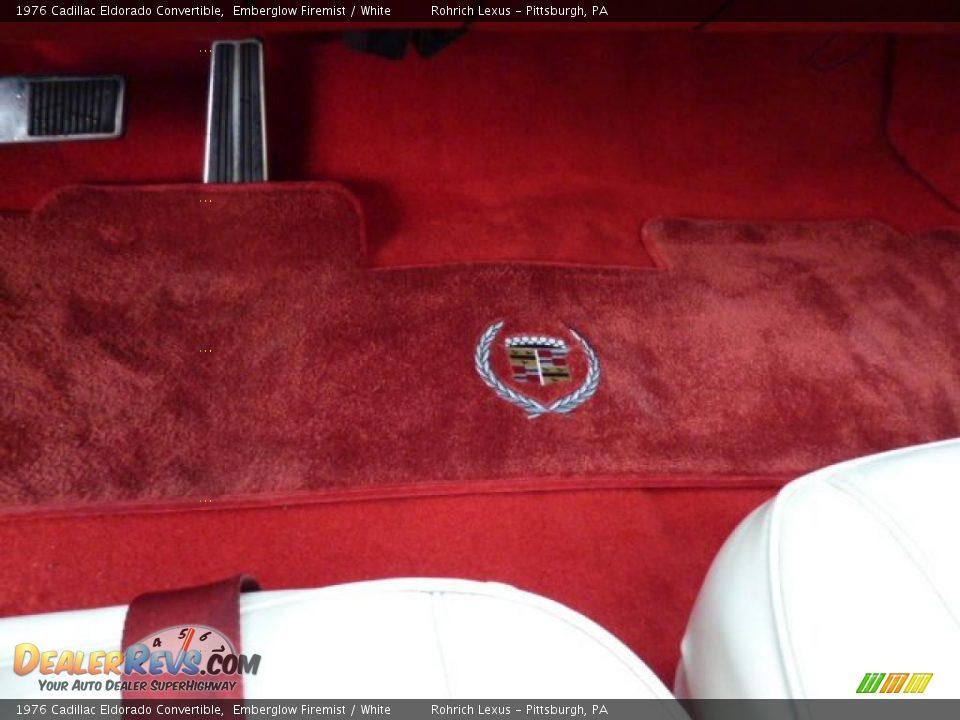White Interior 1976 Cadillac Eldorado Convertible Photo 30