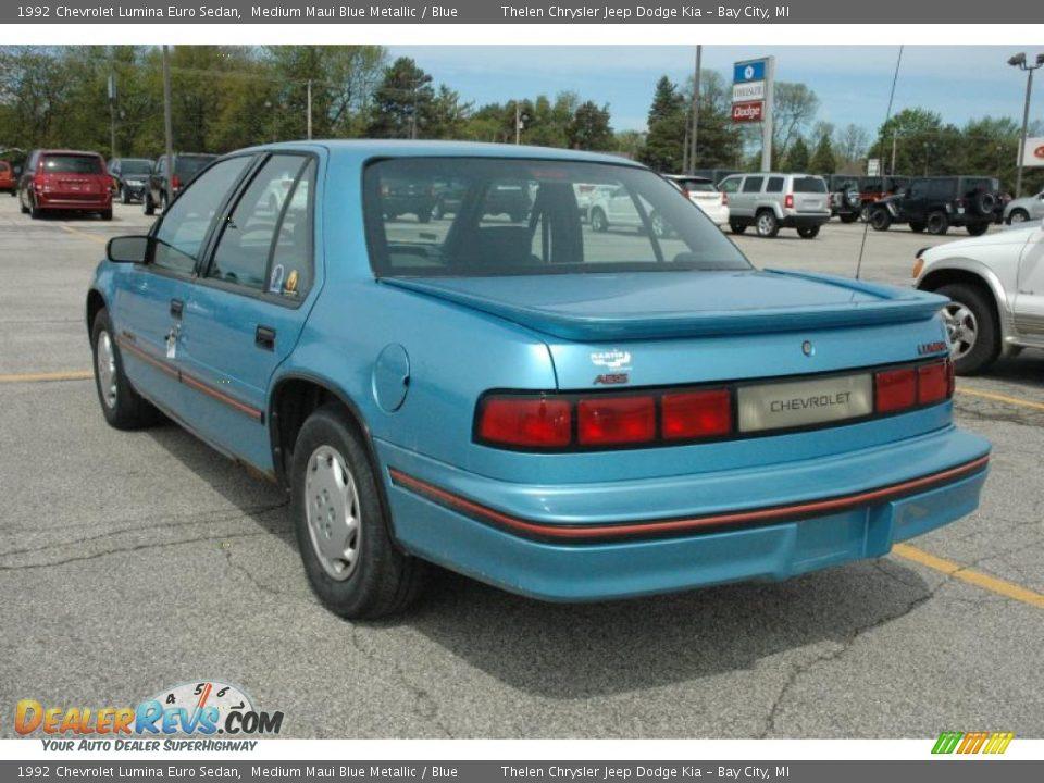 1992 Chevrolet Lumina Euro Sedan Medium Maui Blue Metallic / Blue ...