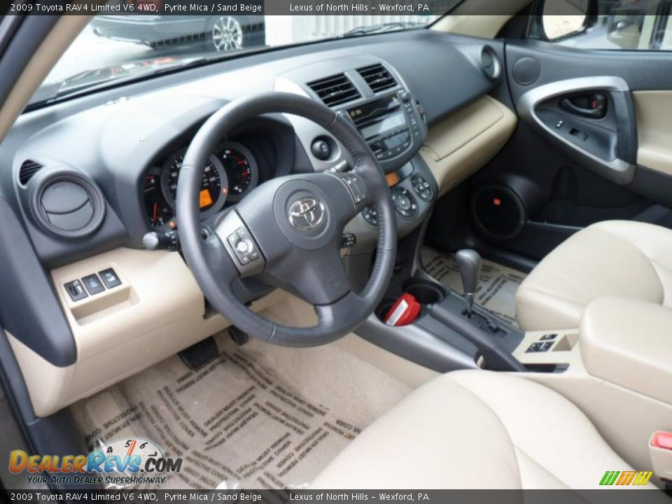 Sand Beige Interior 2009 Toyota Rav4 Limited V6 4wd