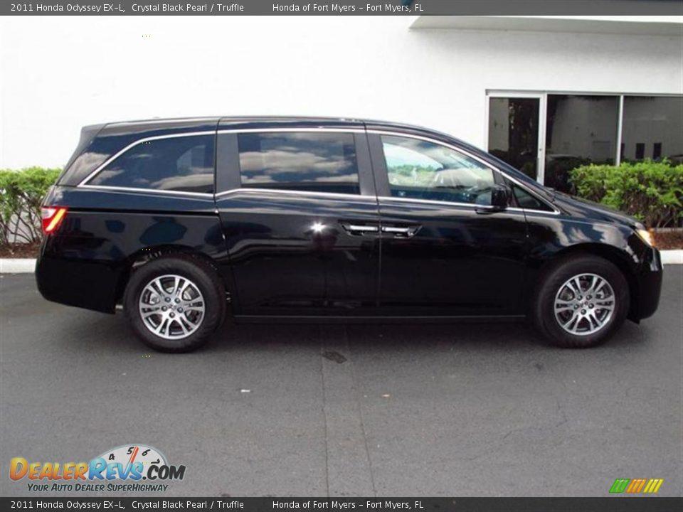 2011 Honda Odyssey Ex L Crystal Black Pearl Truffle