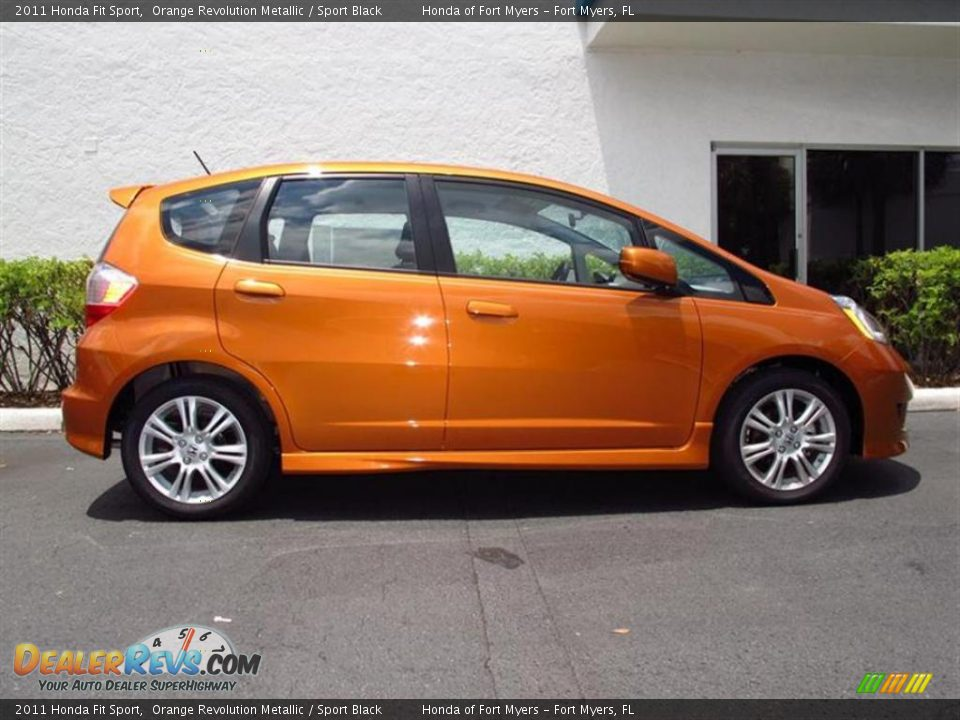 orange revolution metallic 2011 honda fit sport photo 2