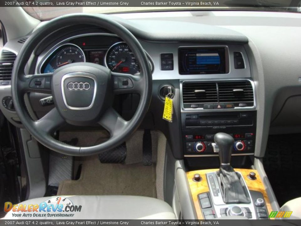 Limestone Grey Interior 2007 Audi Q7 4 2 Quattro Photo