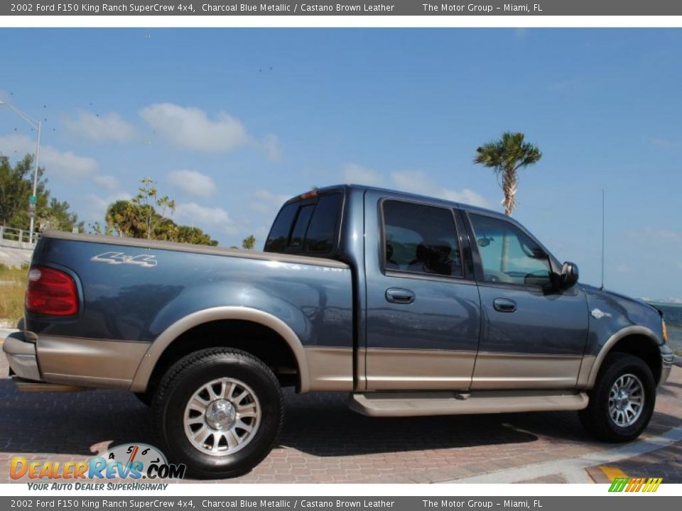 2002 ford f150 king ranch supercrew 4x4 charcoal blue metallic castano brown leather photo 8. Black Bedroom Furniture Sets. Home Design Ideas