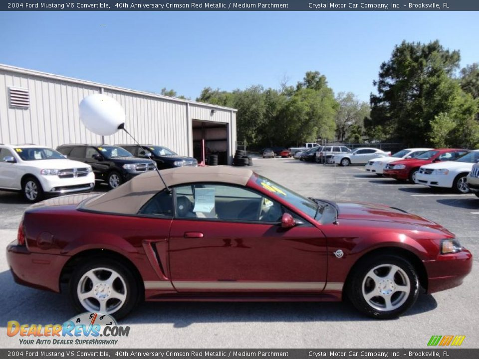 40th anniversary crimson red metallic 2004 ford mustang v6. Black Bedroom Furniture Sets. Home Design Ideas