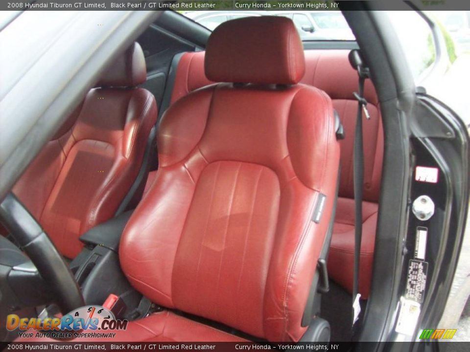Gt Limited Red Leather Interior 2008 Hyundai Tiburon Gt Limited Photo 6