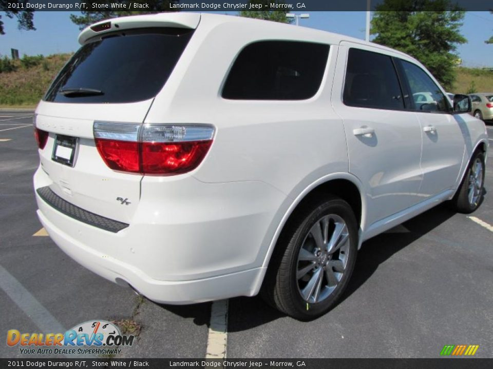 2011 Dodge Durango R T Stone White Black Photo 3