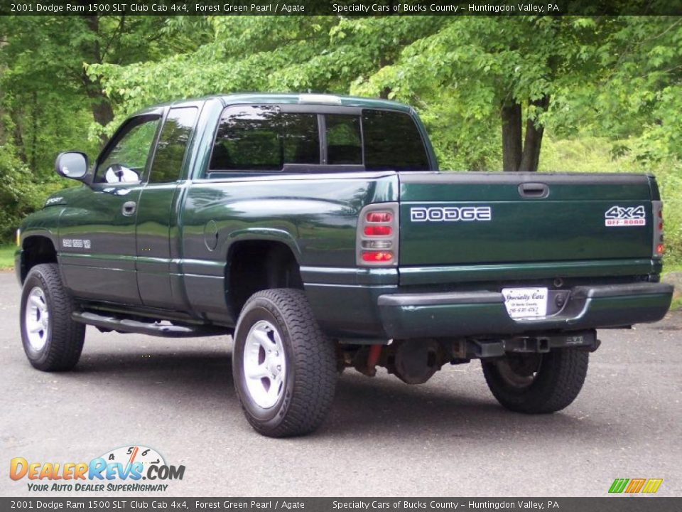 2001 dodge ram 1500 slt club cab 4x4 forest green pearl agate photo 6. Black Bedroom Furniture Sets. Home Design Ideas