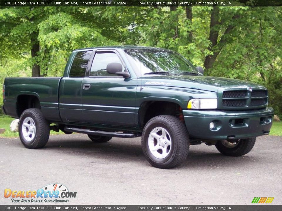 2001 dodge ram 1500 slt club cab 4x4 forest green pearl agate photo 11. Black Bedroom Furniture Sets. Home Design Ideas