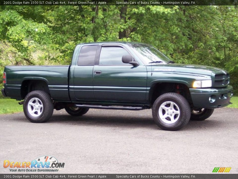 2001 dodge ram 1500 slt club cab 4x4 forest green pearl agate photo 12. Black Bedroom Furniture Sets. Home Design Ideas