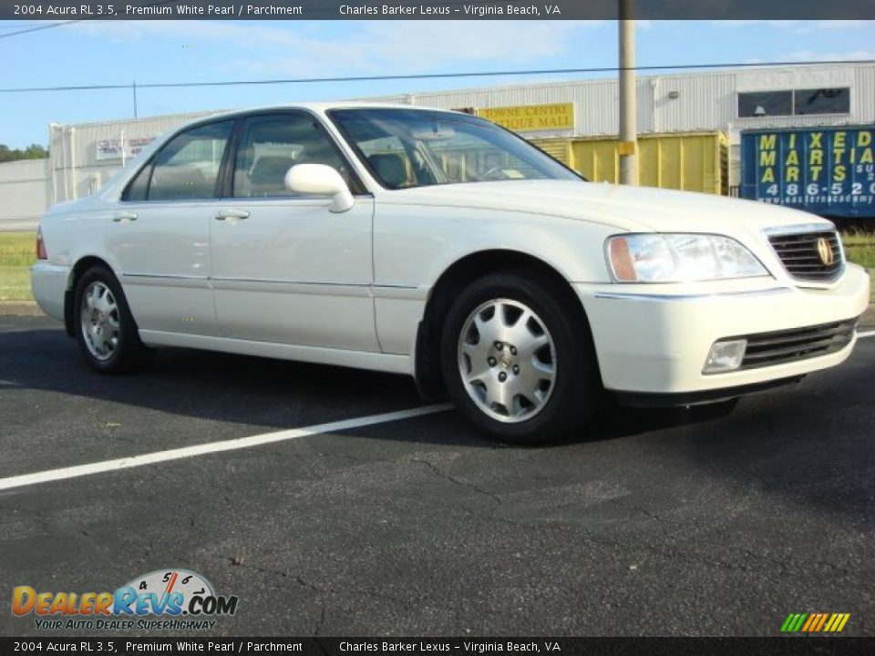 2004 acura rl 3 5 premium white pearl parchment photo 2. Black Bedroom Furniture Sets. Home Design Ideas