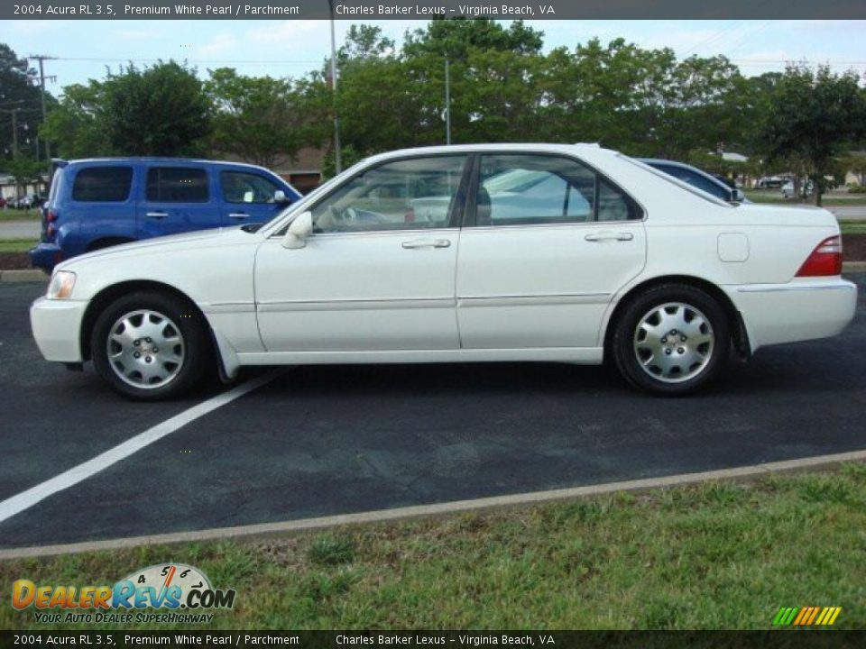 2004 acura rl 3 5 premium white pearl parchment photo 6 dealerrevs com