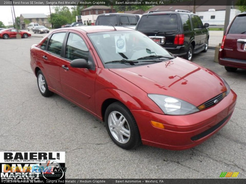 2003 ford focus se sedan sangria red metallic medium. Black Bedroom Furniture Sets. Home Design Ideas