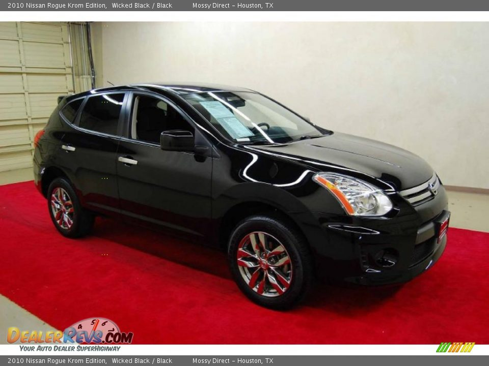 Wicked Black 2010 Nissan Rogue Krom Edition Photo 1