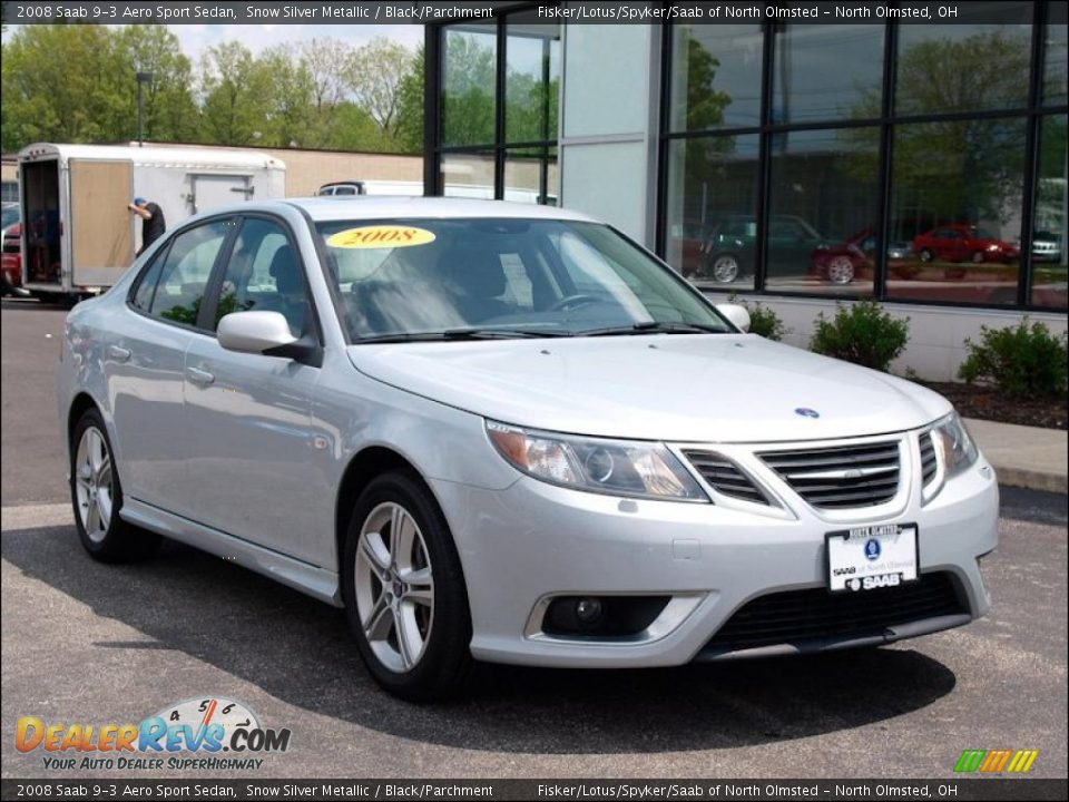 2008 saab 9 3 aero sport sedan snow silver metallic. Black Bedroom Furniture Sets. Home Design Ideas