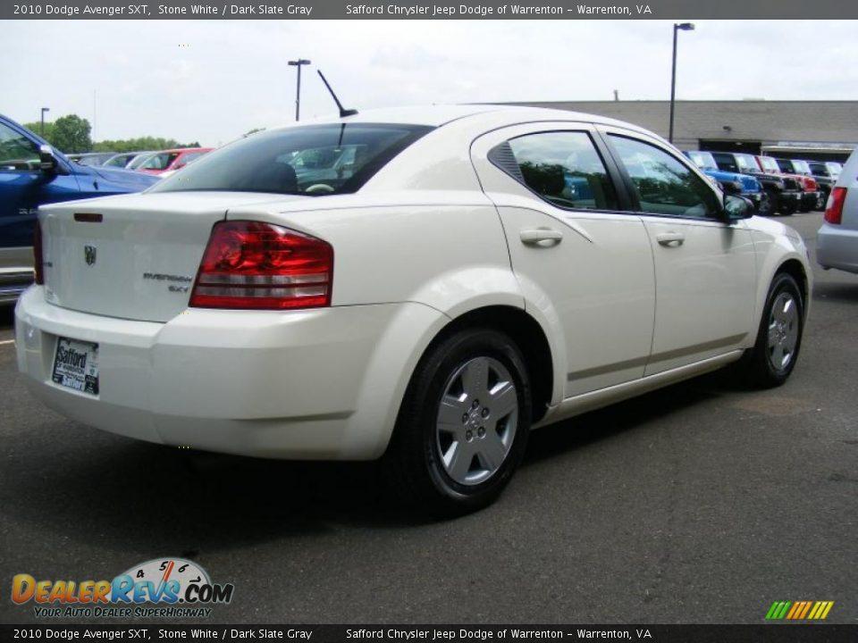 2010 Dodge Avenger Sxt Stone White Dark Slate Gray Photo