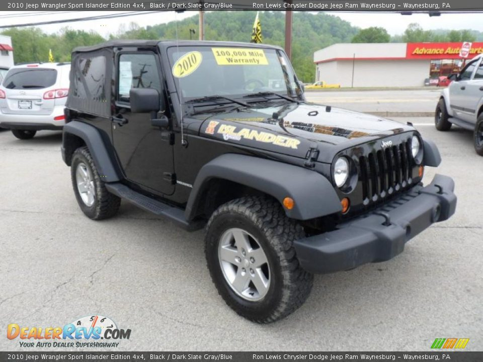 2010 jeep wrangler sport islander edition 4x4 black dark. Black Bedroom Furniture Sets. Home Design Ideas