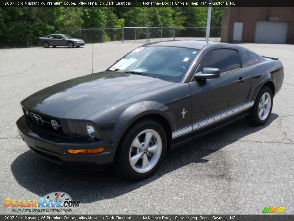 2007 Ford Mustang V6 Premium Coupe Alloy Metallic / Dark Charcoal ...