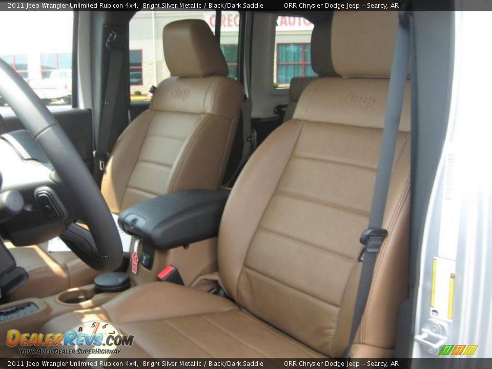 Black Dark Saddle Interior 2011 Jeep Wrangler Unlimited Rubicon 4x4 Photo 13