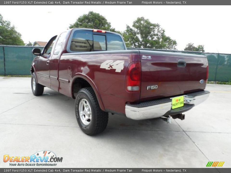 1997 ford f150 xlt extended cab 4x4 dark toreador red. Black Bedroom Furniture Sets. Home Design Ideas