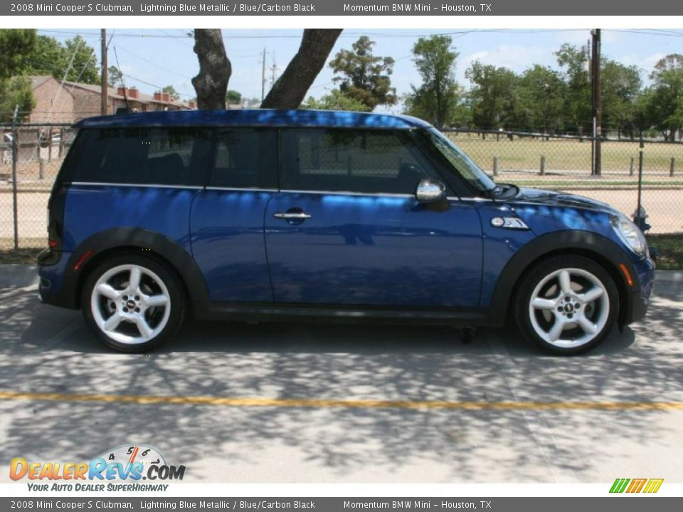 2008 mini cooper s clubman lightning blue metallic blue carbon black photo 4. Black Bedroom Furniture Sets. Home Design Ideas