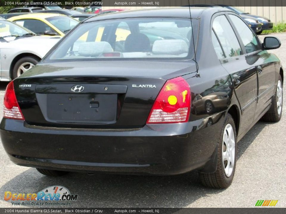 2004 hyundai elantra gls sedan black obsidian gray photo. Black Bedroom Furniture Sets. Home Design Ideas