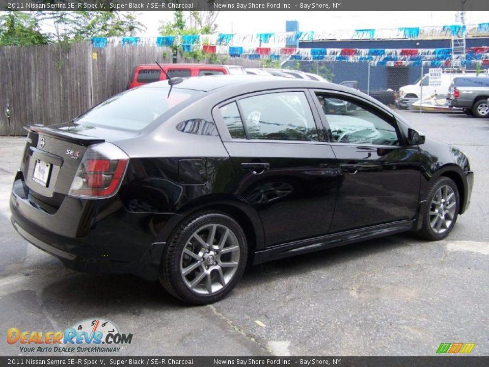 2011 Nissan Sentra Se R Spec V Super Black Se R Charcoal Photo 6