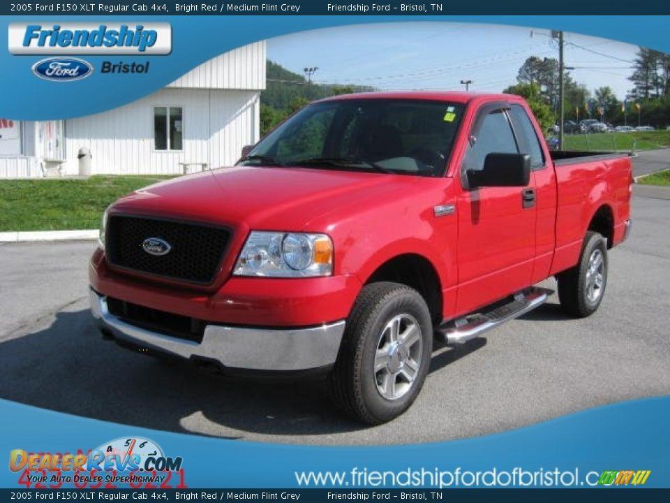 2005 Ford F150 Xlt Regular Cab 4x4 Bright Red Medium