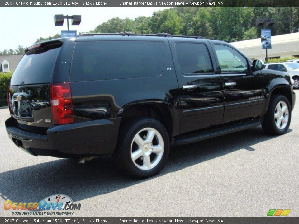 2007 chevrolet suburban 1500 ltz 4x4 black ebony photo. Black Bedroom Furniture Sets. Home Design Ideas