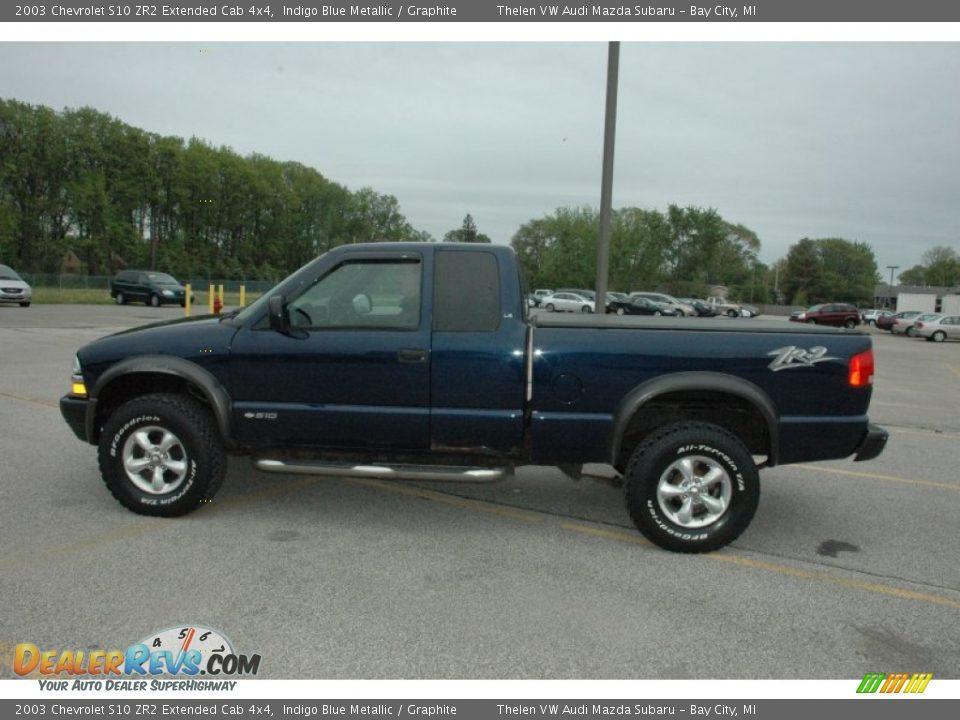 indigo blue metallic 2003 chevrolet s10 zr2 extended cab 4x4 photo 12. Black Bedroom Furniture Sets. Home Design Ideas