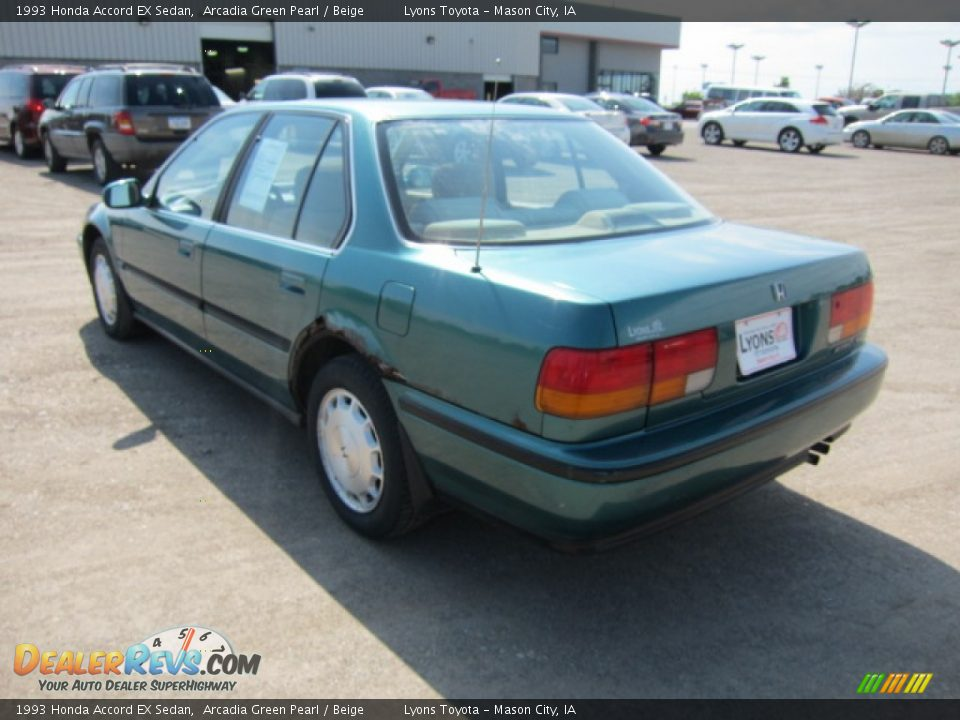 1993 Honda Accord Ex Sedan Arcadia Green Pearl Beige