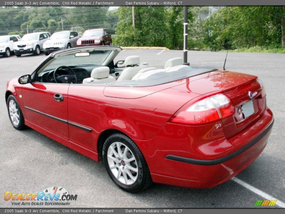 2005 saab 9 3 arc convertible chili red metallic. Black Bedroom Furniture Sets. Home Design Ideas
