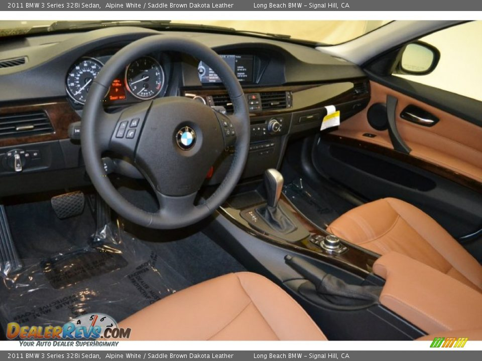 saddle brown dakota leather interior 2011 bmw 3 series 328i sedan photo 10. Black Bedroom Furniture Sets. Home Design Ideas