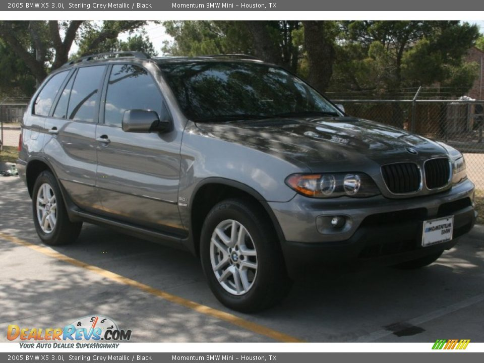 2005 Bmw X5 3 0i Sterling Grey Metallic Black Photo 11