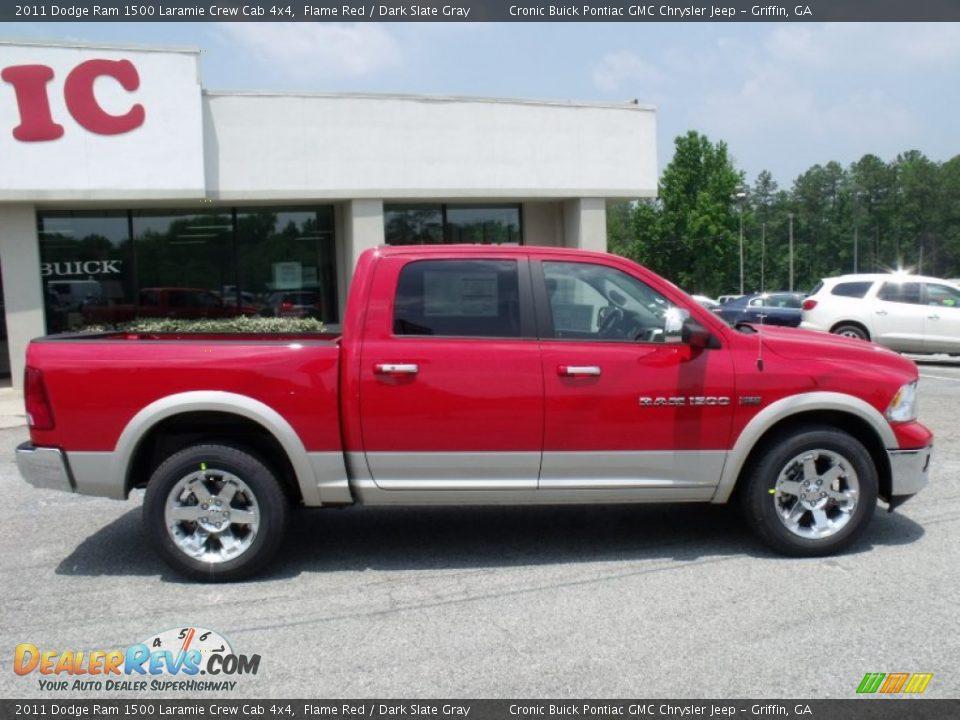 2011 Dodge Ram 1500 Laramie Crew Cab 4x4 Flame Red Dark