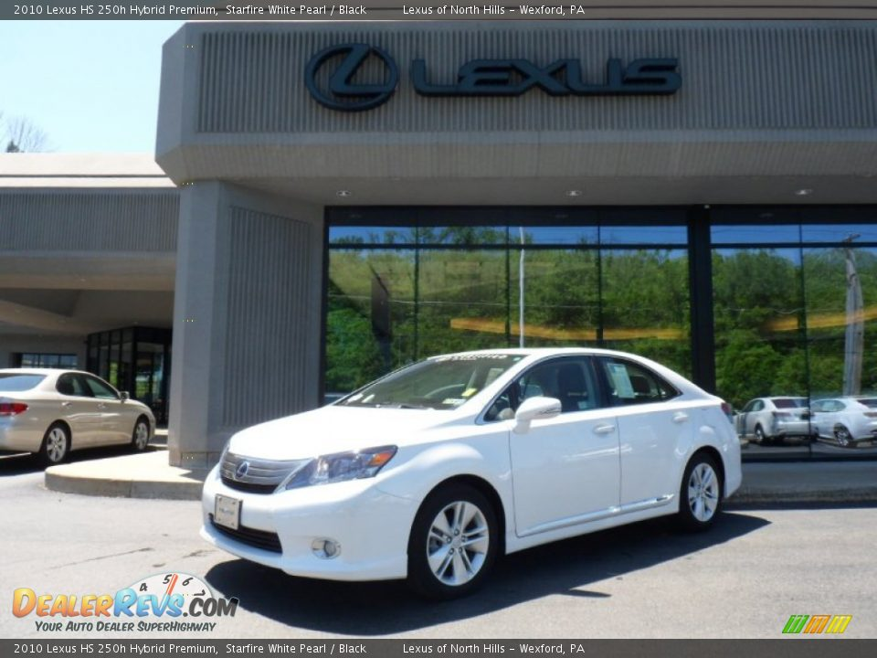 2010 lexus hs 250h hybrid premium starfire white pearl black photo 1. Black Bedroom Furniture Sets. Home Design Ideas