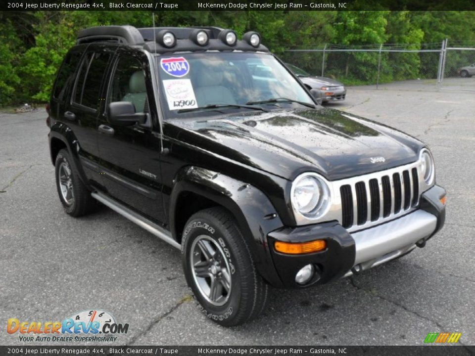 2004 jeep liberty renegade 4x4 black clearcoat taupe. Black Bedroom Furniture Sets. Home Design Ideas