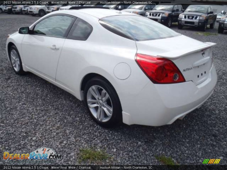 2012 nissan altima 2 5 s coupe winter frost white charcoal photo 3. Black Bedroom Furniture Sets. Home Design Ideas