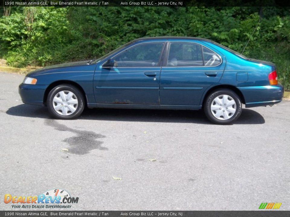 1998 Nissan Altima Gle Blue Emerald Pearl Metallic Tan